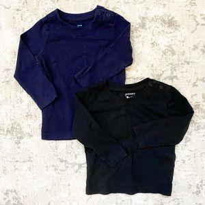 Primary   Navy & Black 12-18M Long Sleeve Shirts